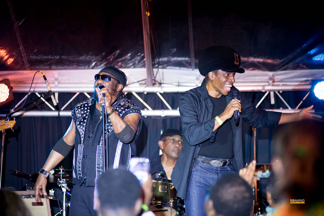 2018 fundraiser Toots and The Maytals onstage with Eddy Grant!